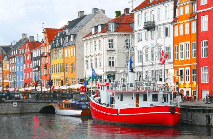 Copenhagen colourful port