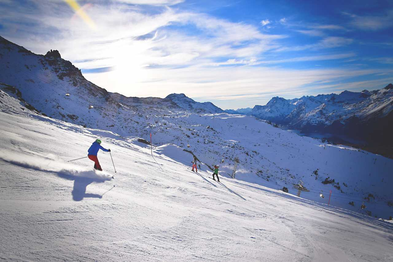 Corvatsch St Moritz skier