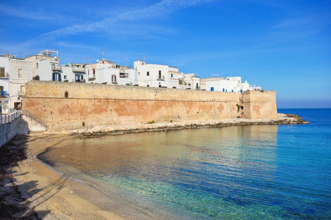 Panoramic view of Monopoli in Puglia, Italy.