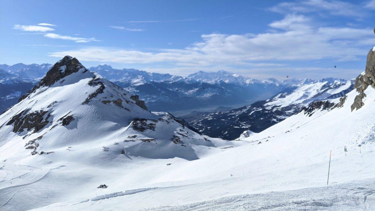 Crans-Montana glacier mountain