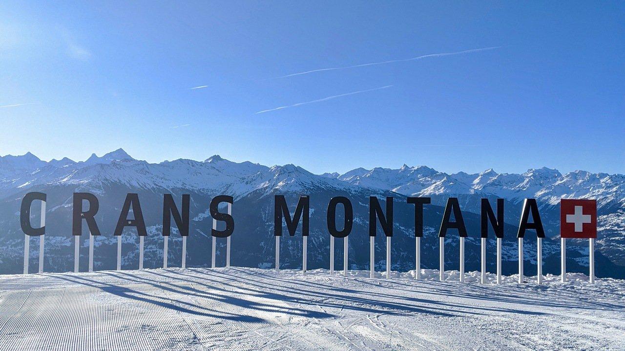 Crans-Montana sign