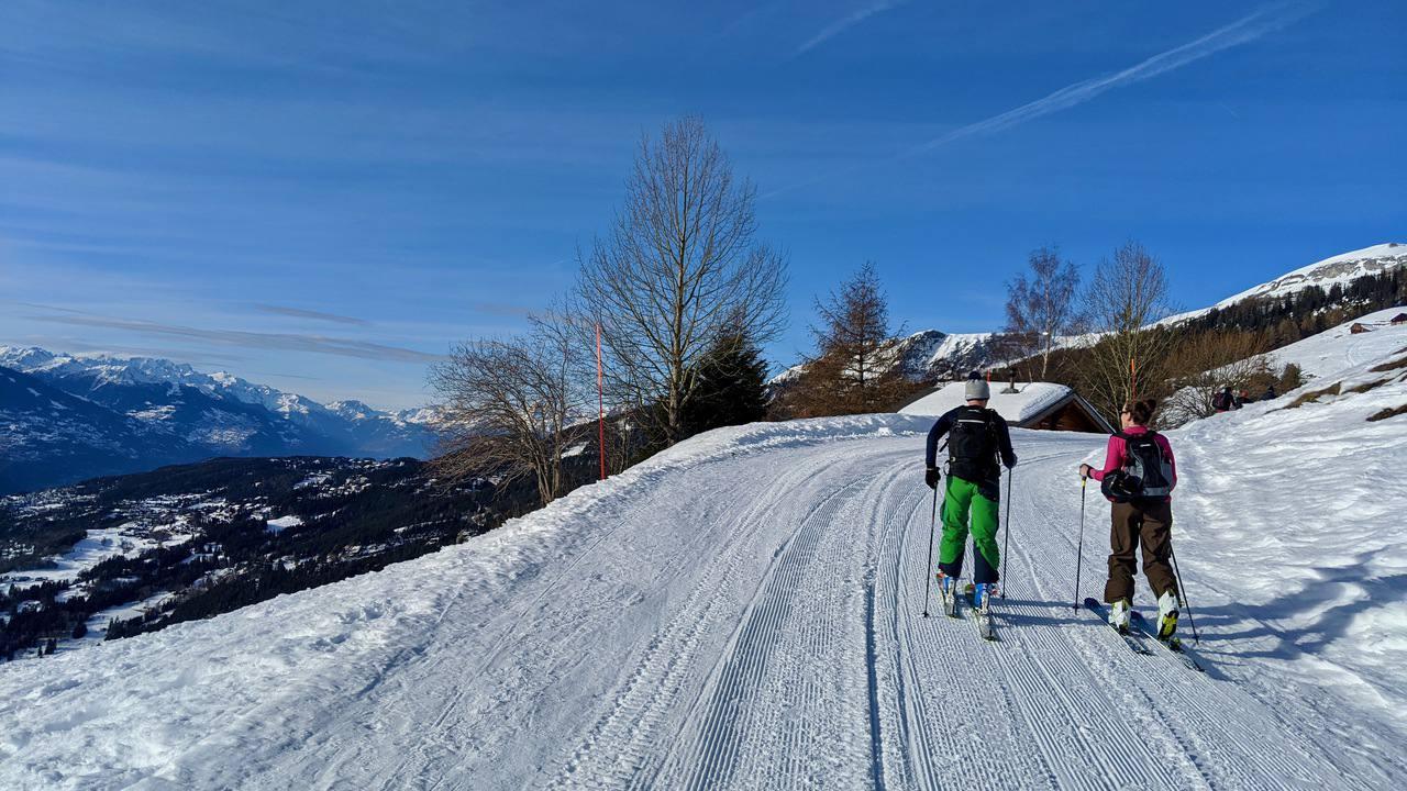 Ski touring in Crans-Montana