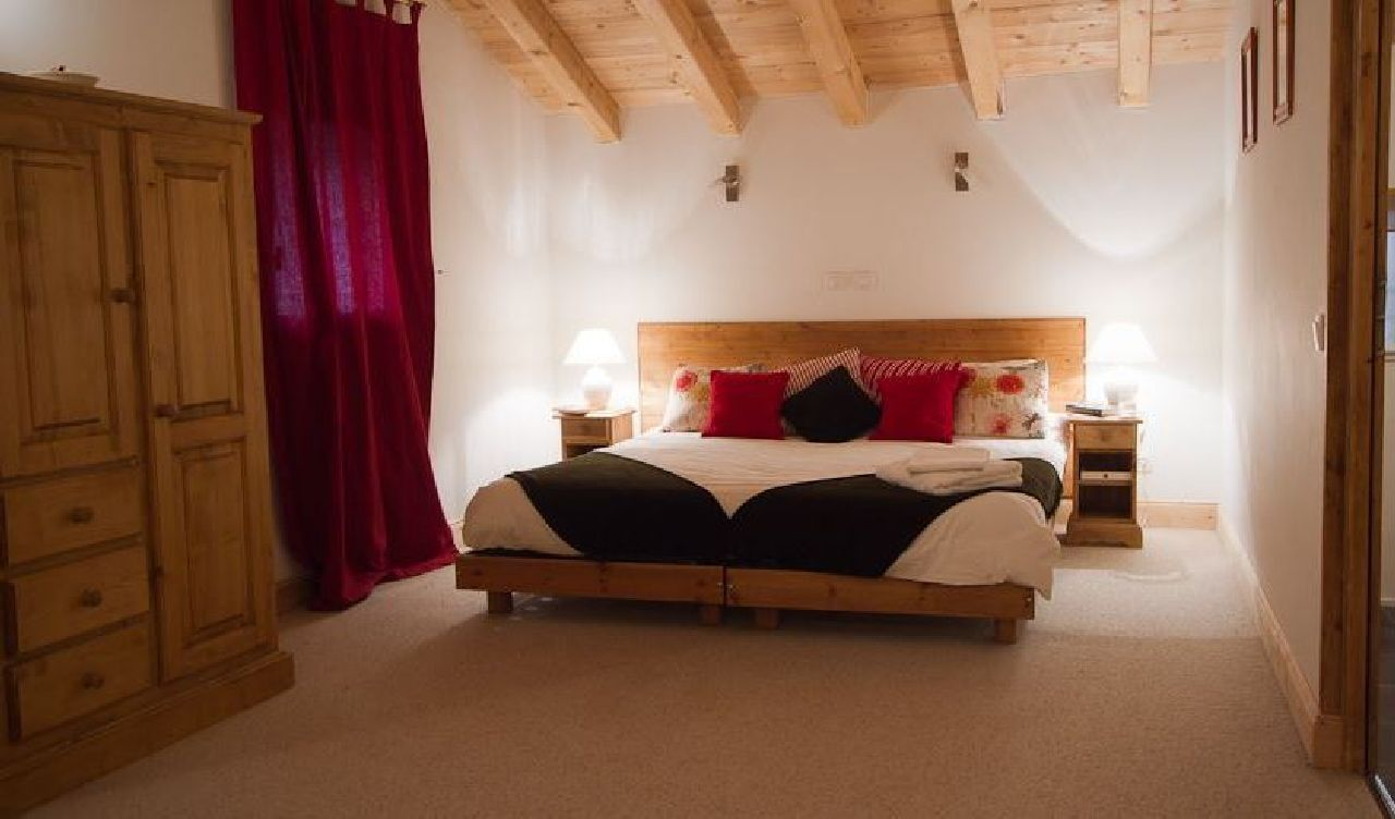 A typical chalet bedroom in La Plagne