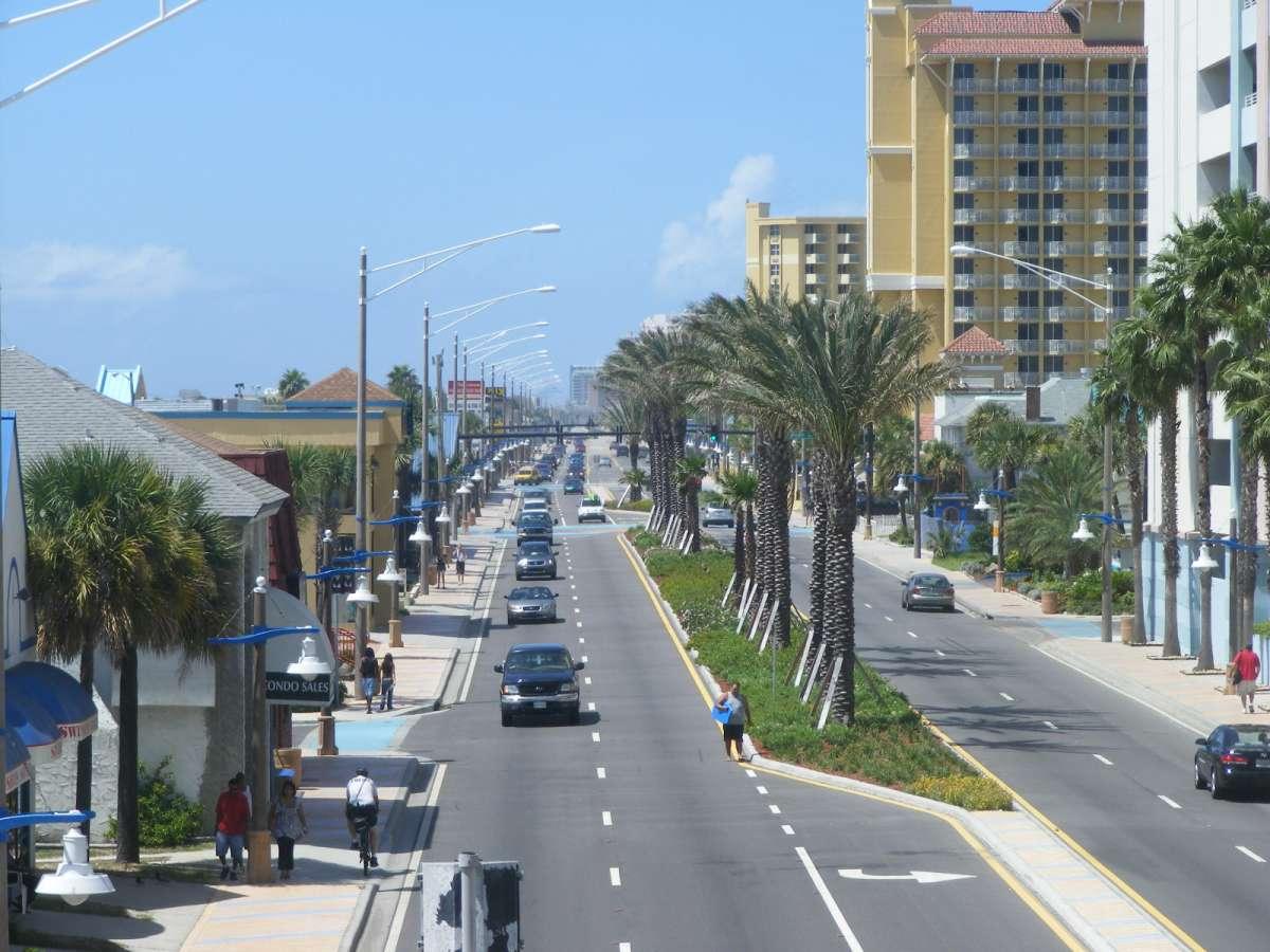 State Road A1A in Daytona Beach, Florida