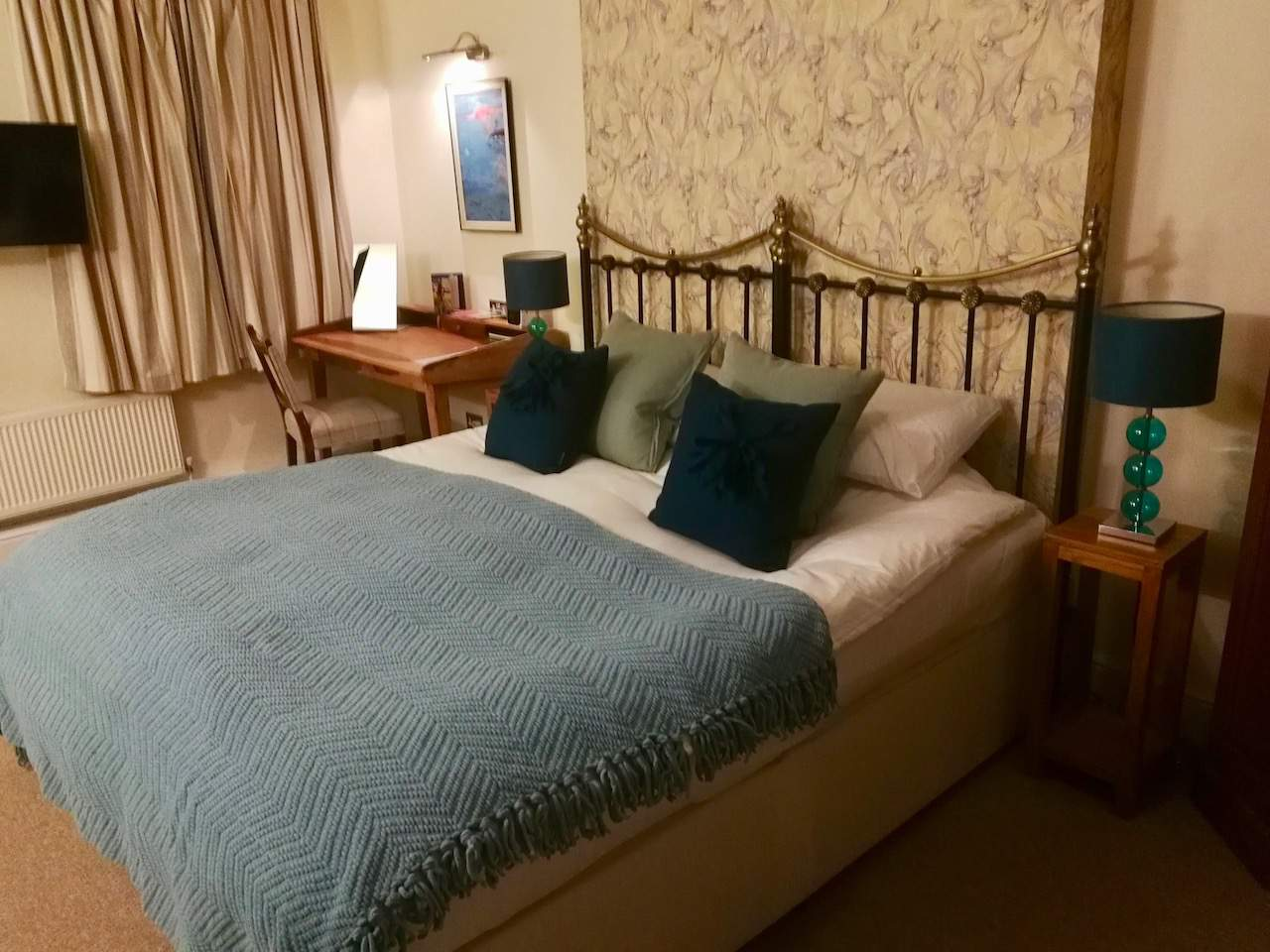 Dorset Blue room at La Fosse