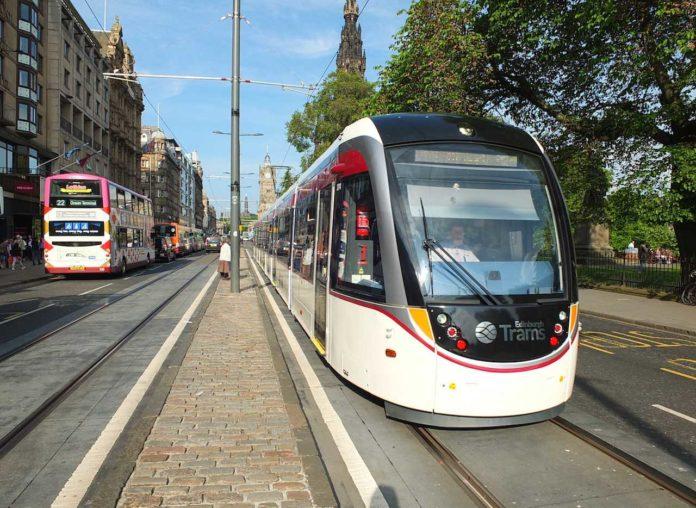 Edinburgh tram: first day of operation