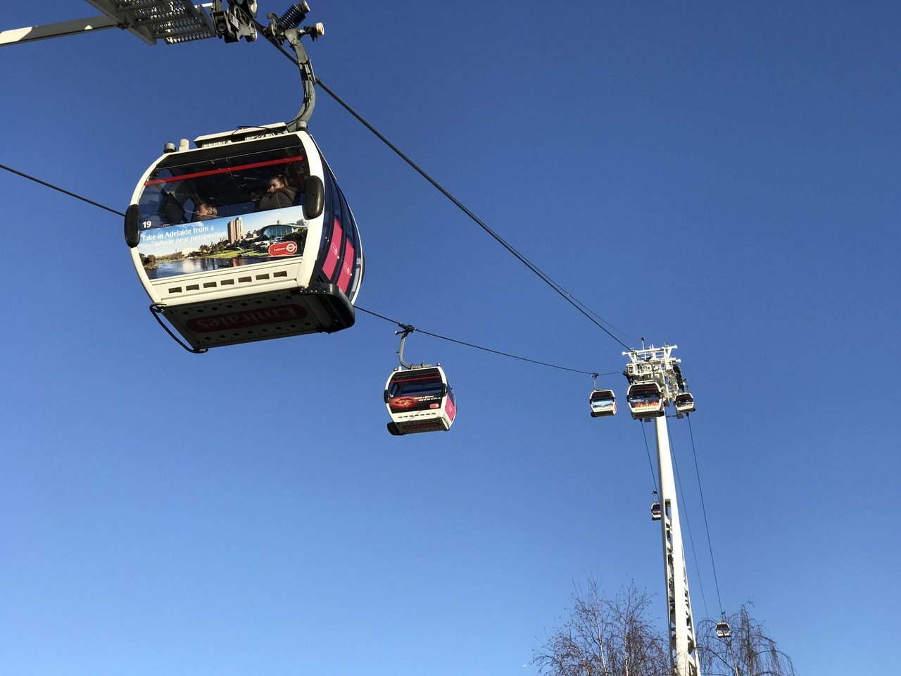 Emirates cable car, London