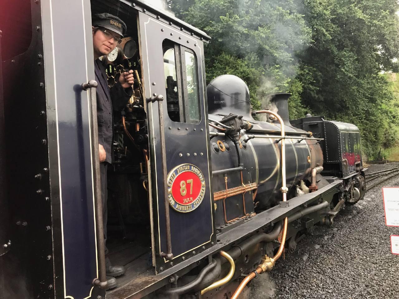 Engine 87 on Welsh Highland Railways