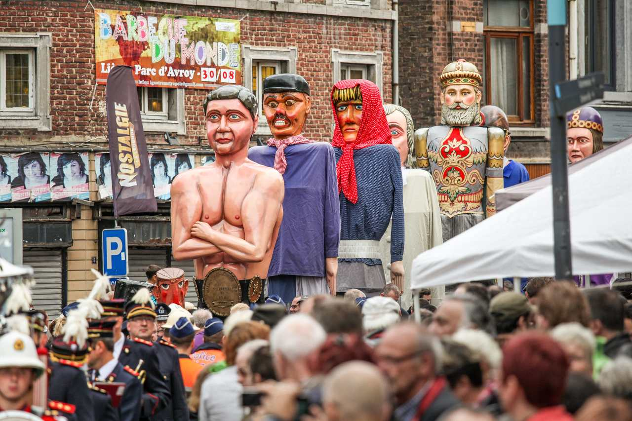 Liege - celebrations of 15 August in Outremeuse