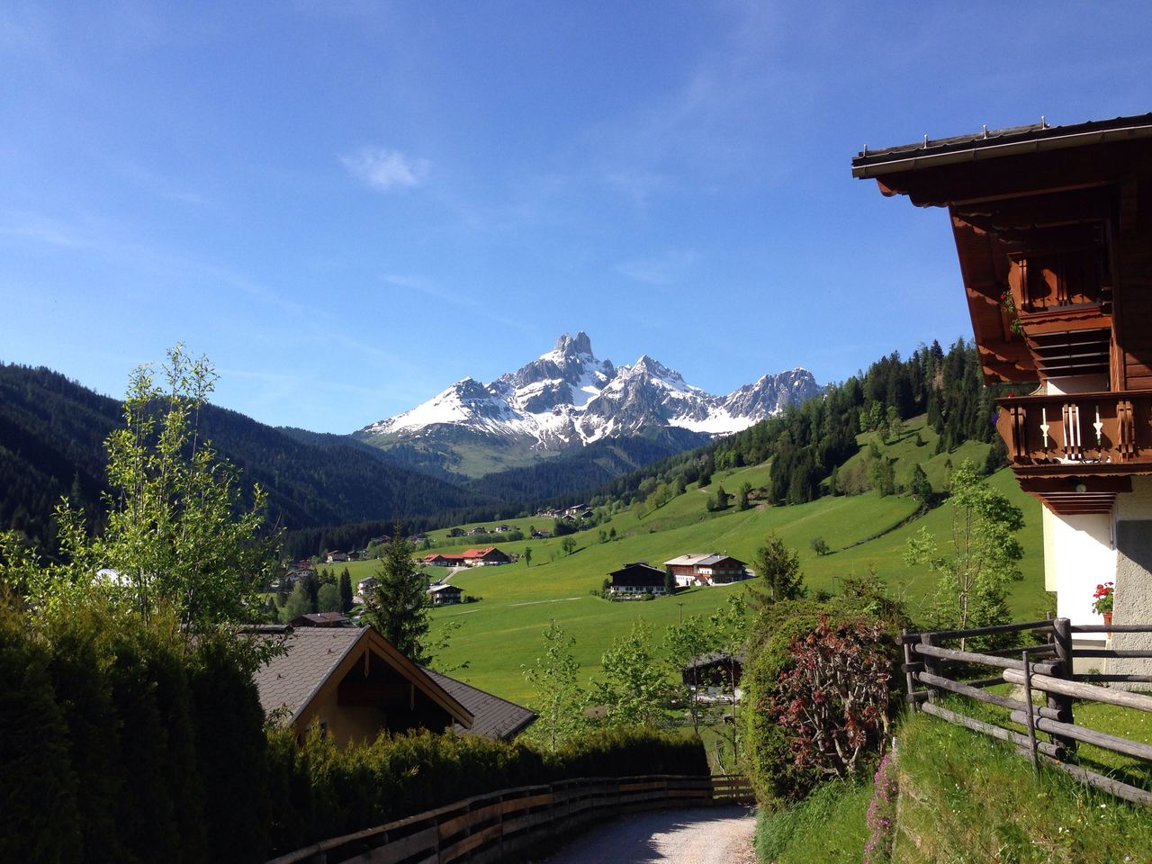 Filzmoos from the Hotel Alpenkrone. Best view to wake up to
