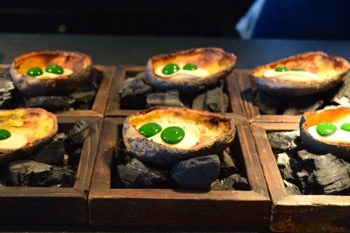 Fire potatoes at NOA Chef's Hall
