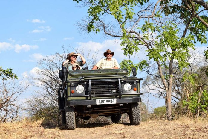 Game drive in Kafue, Zambia
