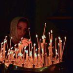 Georgia - Mtskheta - woman praying