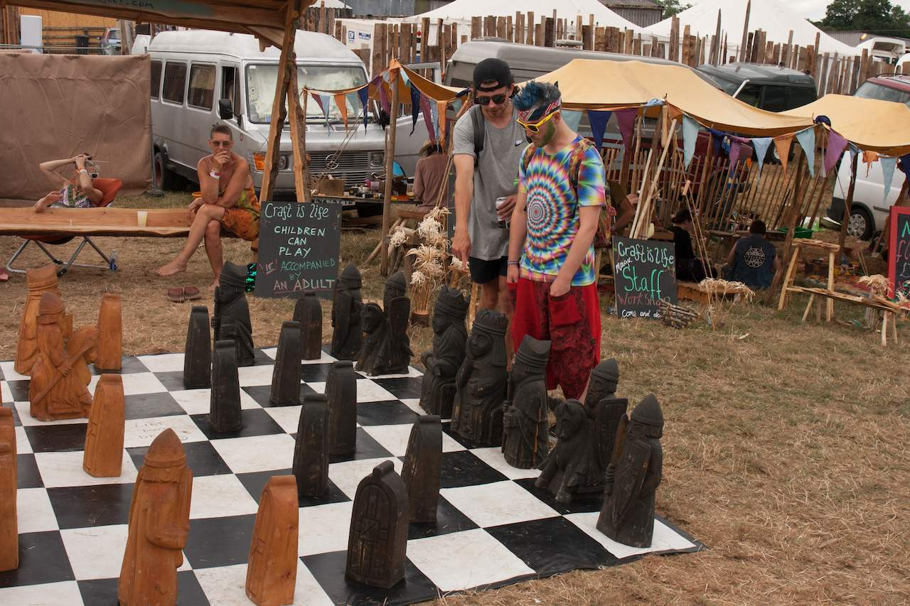 "Giant chess at ""The Altered State"" area"