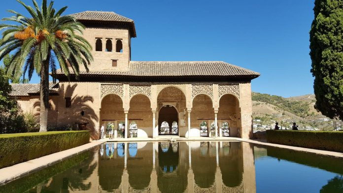 The Alhambra palace and fortress complex in Granada