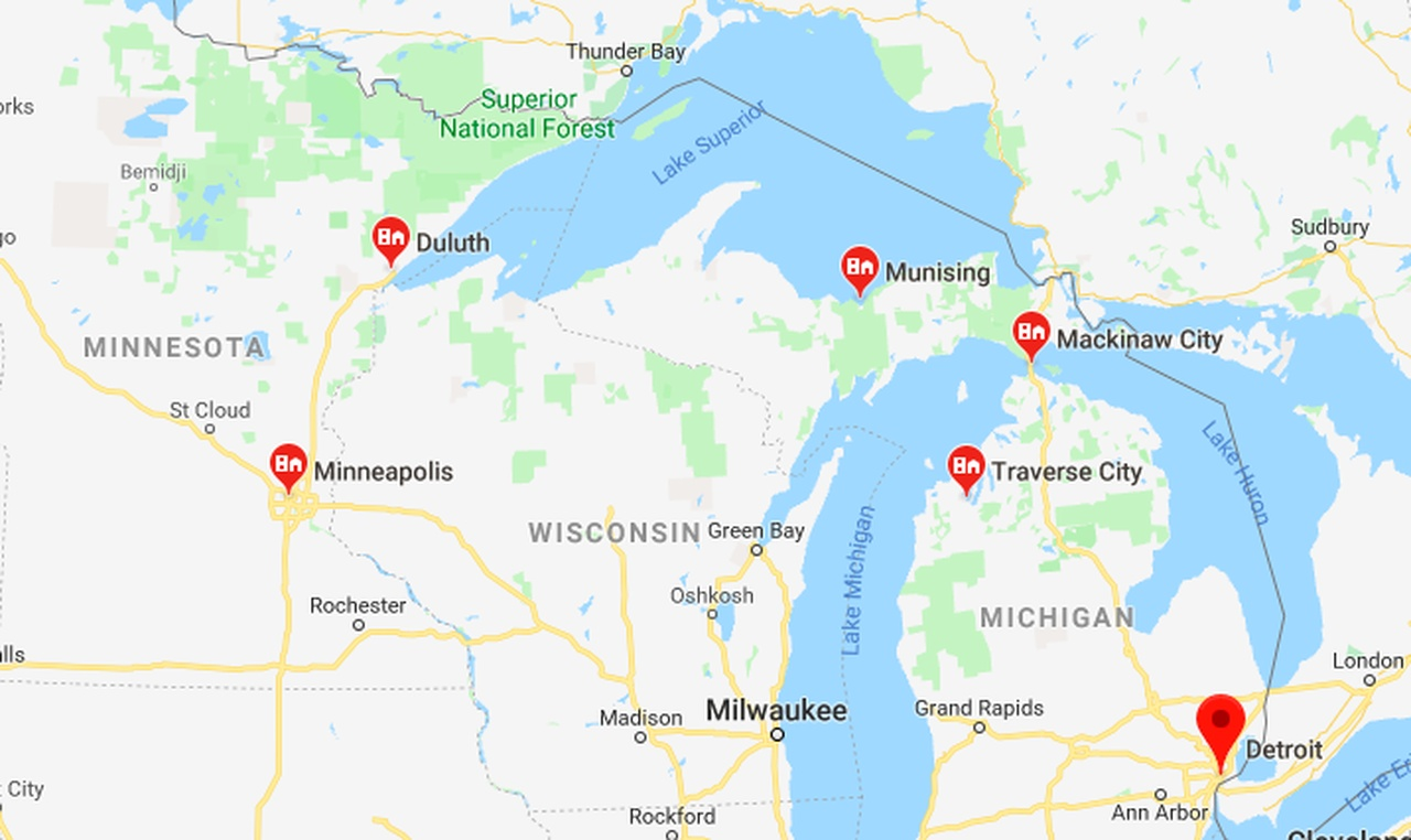 Road Trip: USA Great Lakes featuring Michigan, Wisconsin ...