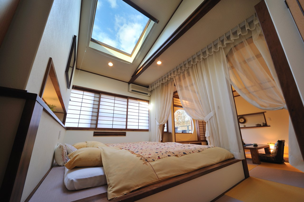 Guest room with bed Shikikan Saito