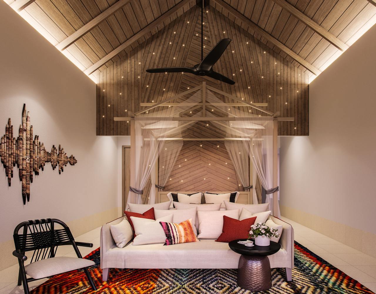 Hard Rock Hotel Maldives Rock Star Villa bedroom