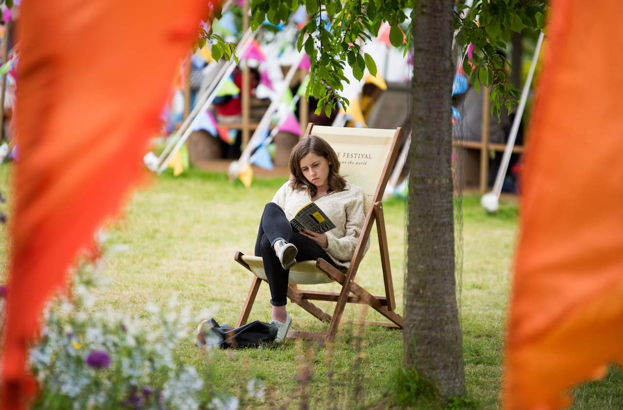 Reading at the Hay Festival