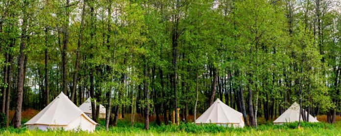 Beautiful bell tents