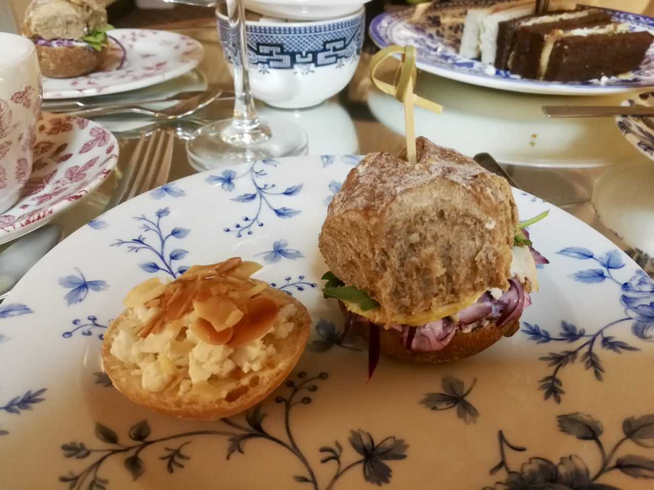 Goat's Cheese Roll and Honey & Mustard Chicken Sandwich