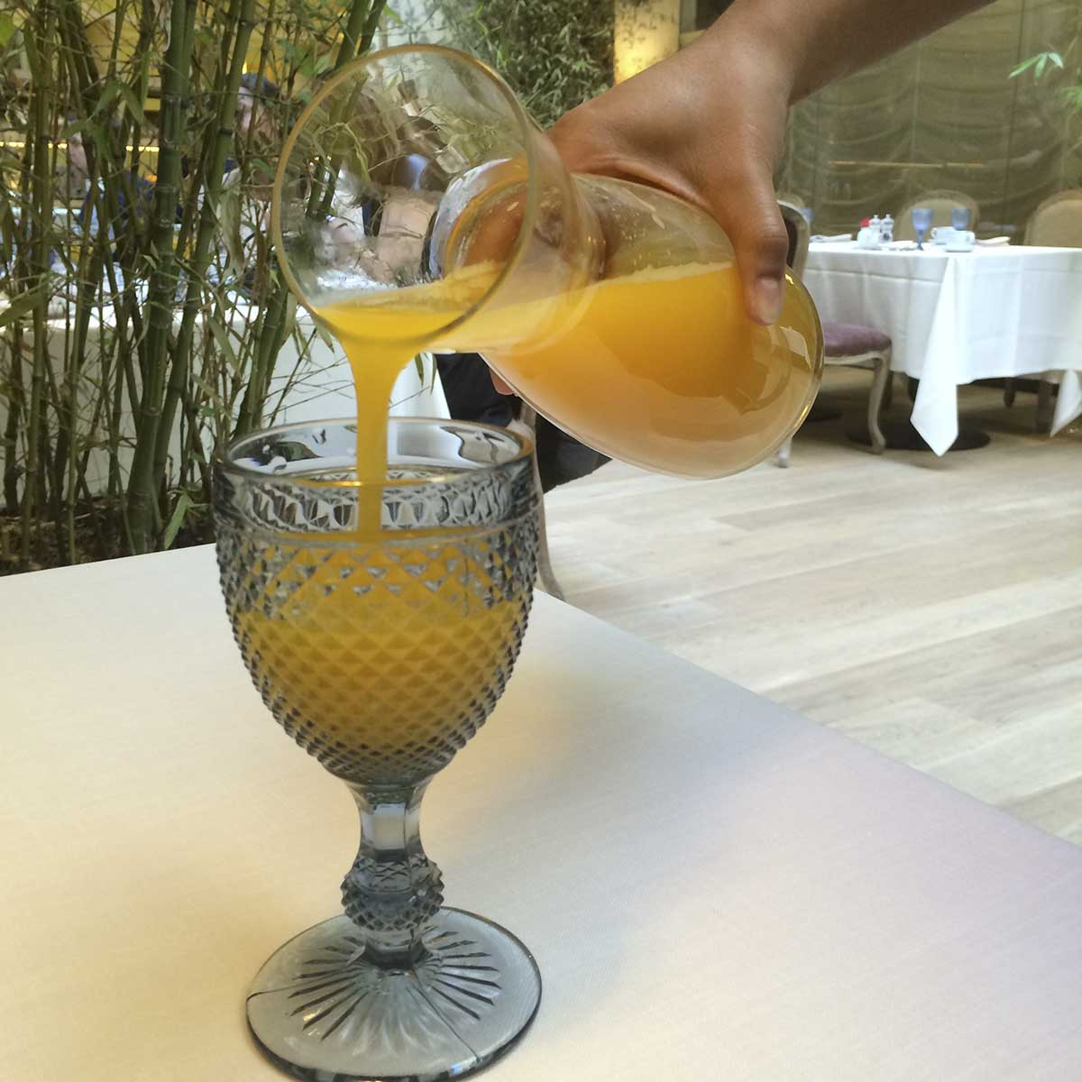 URSO Hotel, Madrid: freshly squeezed orange juice