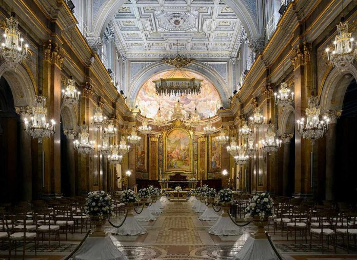 Interior of the Basilica of St. Giovanni and Paolo Rome
