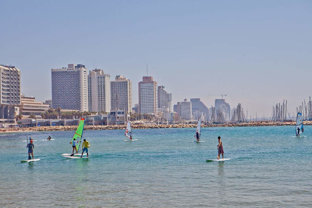 Israel - Tel Aviv Jaffa - sea skyscrapers