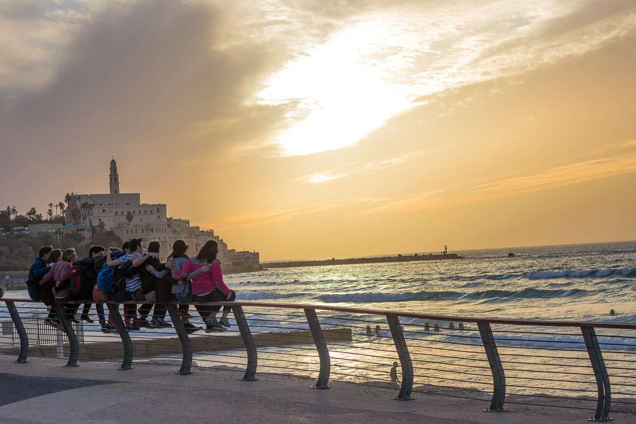 Israel - Tel Aviv - seaside promenade - sunset