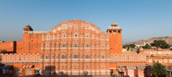 Hawa Mahal panoramic view, Jaipur