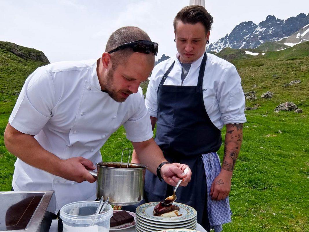 James Knappett prepares his dish
