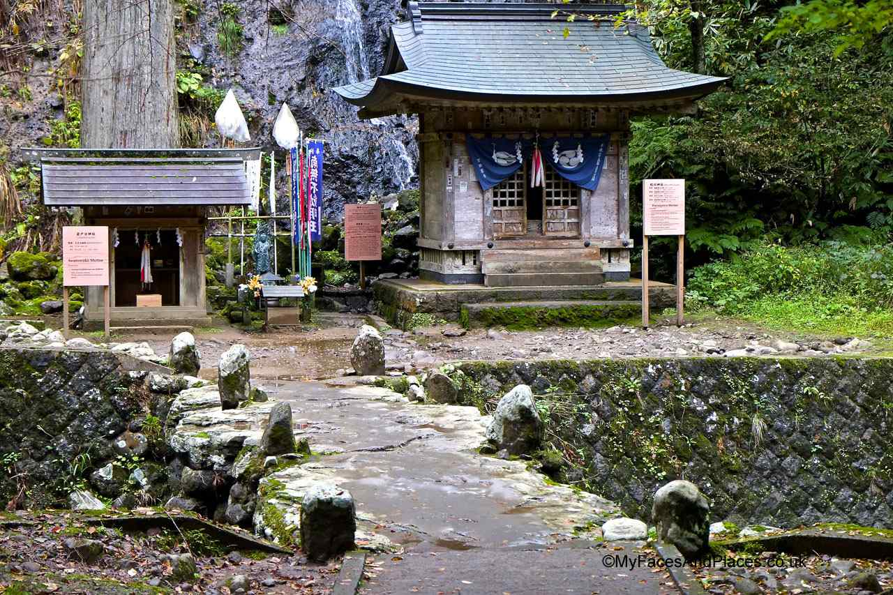 Japan - Forest shrine and spirit house in Mt Haguro
