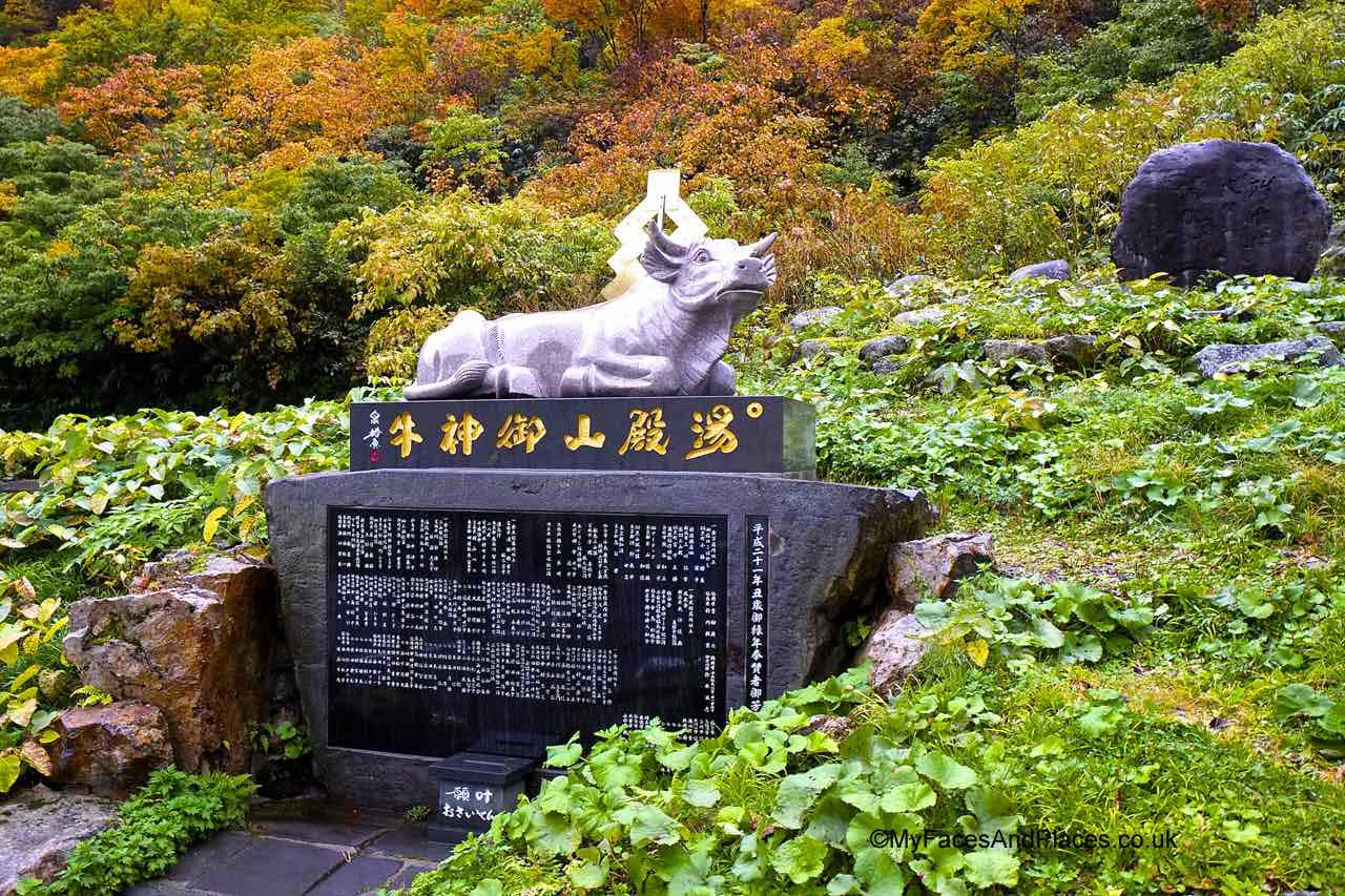 Japan - The sacred cow guardian of Mt Yudono