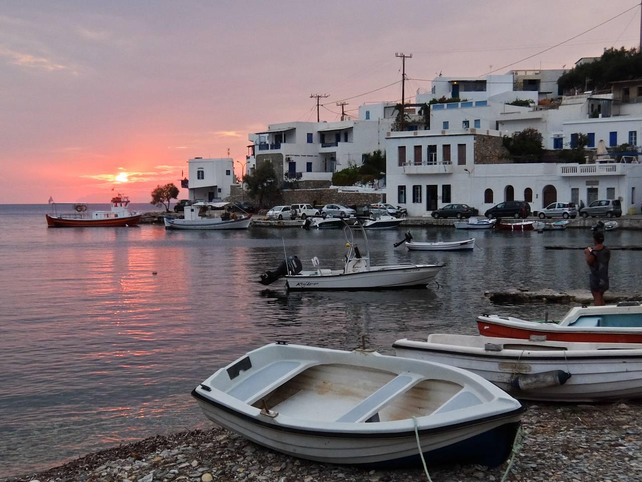 Katapola sunset Amorgos
