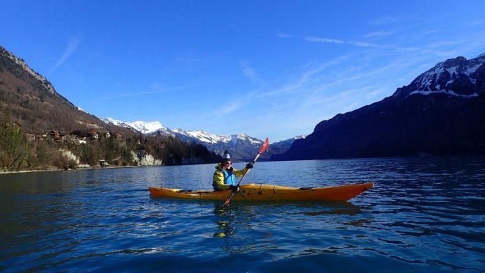 Kayaking on Lake Brienz