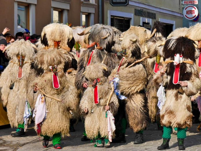 Kurentovanje - Kurents with Horns