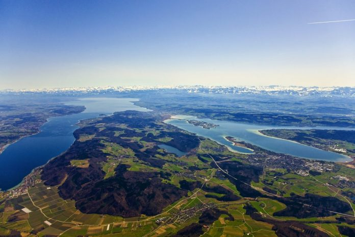 Lake Constance with Alps backdrop