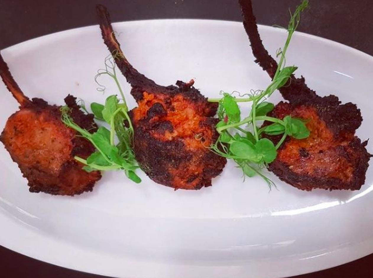 Peshwari lamb chops