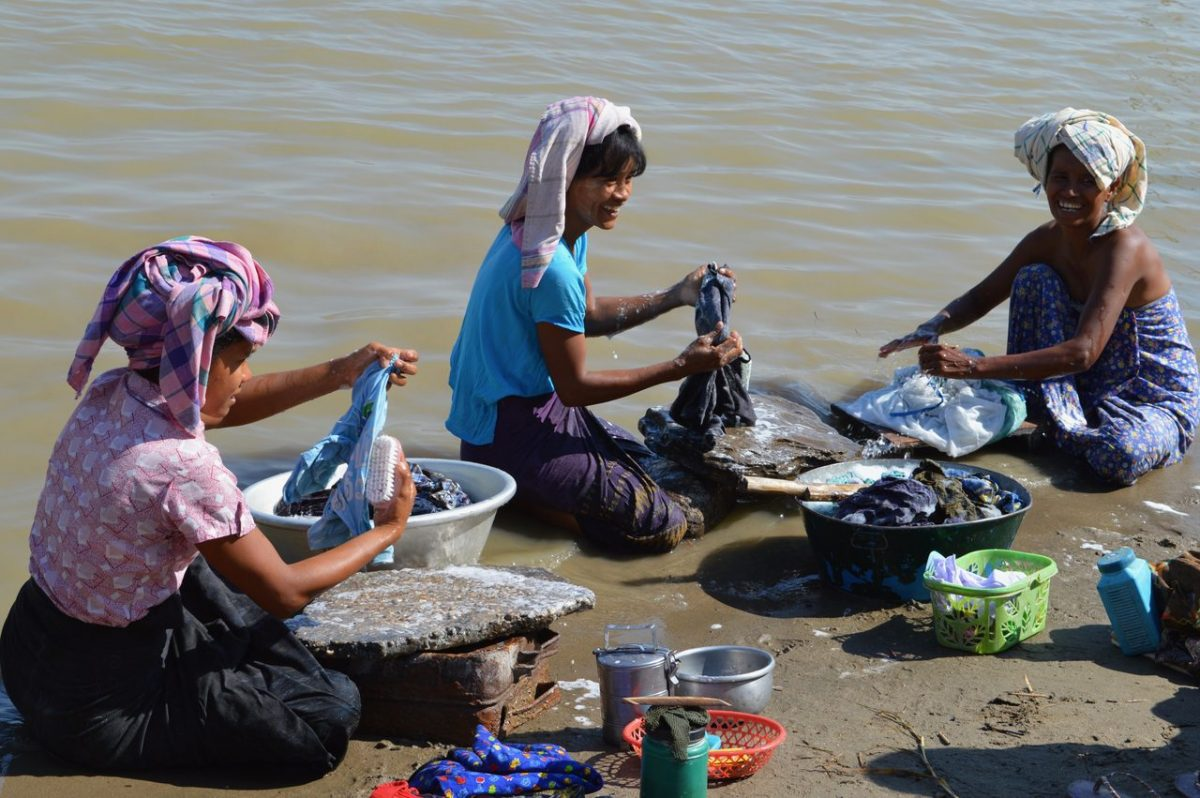Life on the shores on the Irrawaddy River