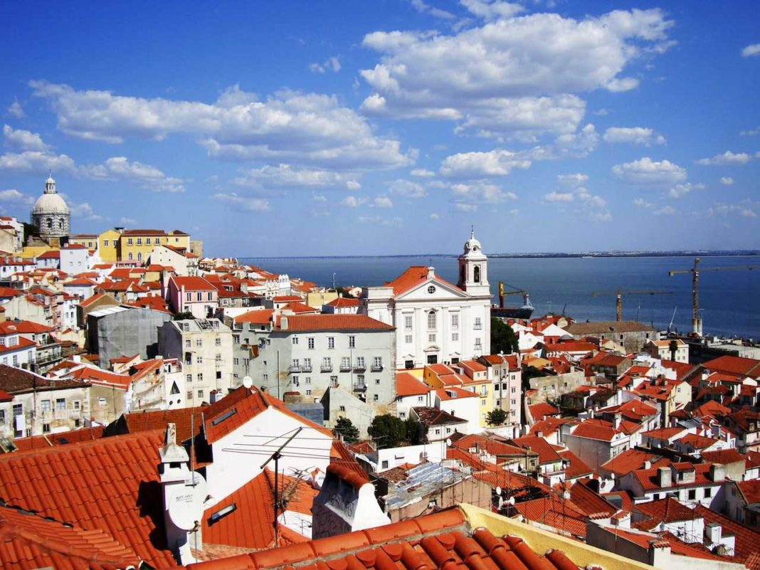 Lisbon, Portugal - view of the roofs