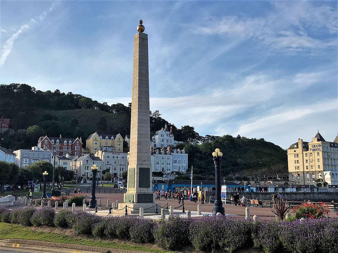 Llandudno war memorial on the seafront