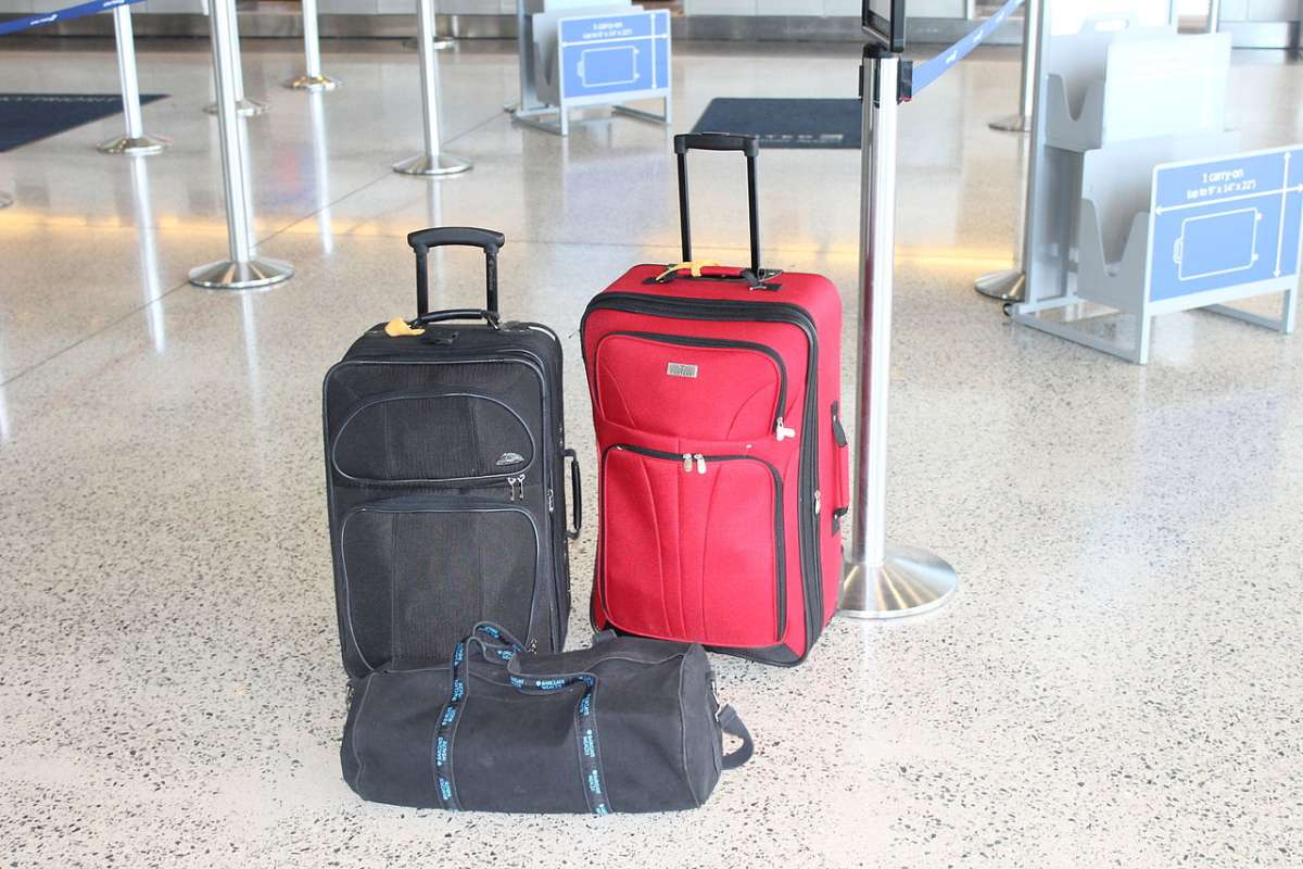 hand luggage at airport
