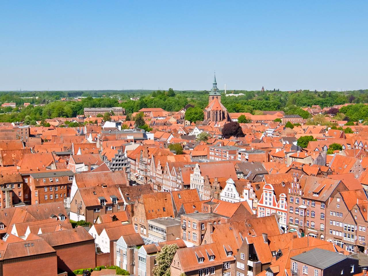 Luneburg rooftops
