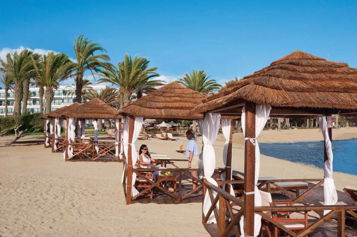 5 winter sun destinations easy to get to from the UK Luxurious seaside hotel in Paphos Cyprus 696x463