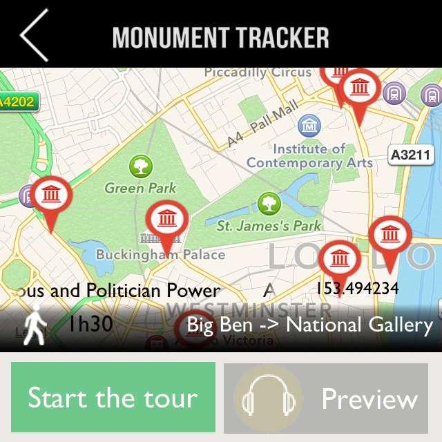 London Monument Tracker