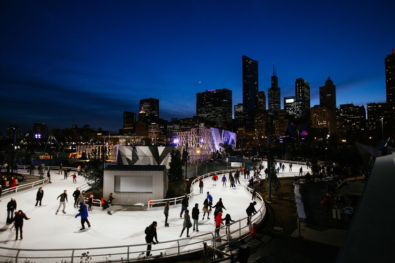 Maggie Daley Park ice skating ribbon Chicago