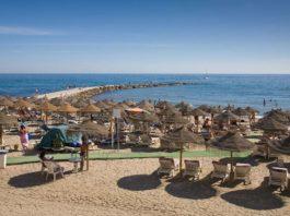 Marbella beach, Costa del Sol, Spain
