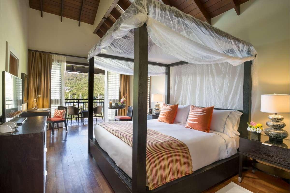 Bedroom at Capella Marigot Bay
