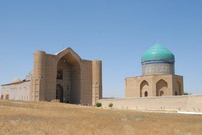 Mausoleum of Khodja Ahmed Yassawi in Turkistan, Kazakhstan