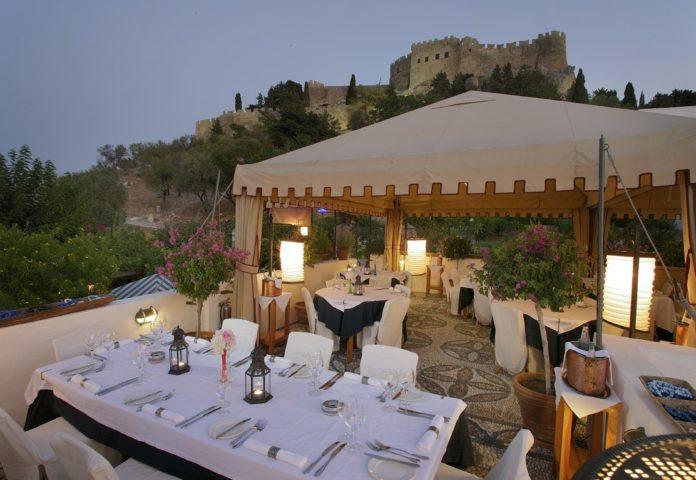 Melenos Lindos - exterior dining